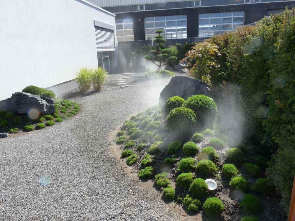 Bewässerungsanlagen ermöglichen auch anspruchsvolle Pflanzungen wie Sternmoos