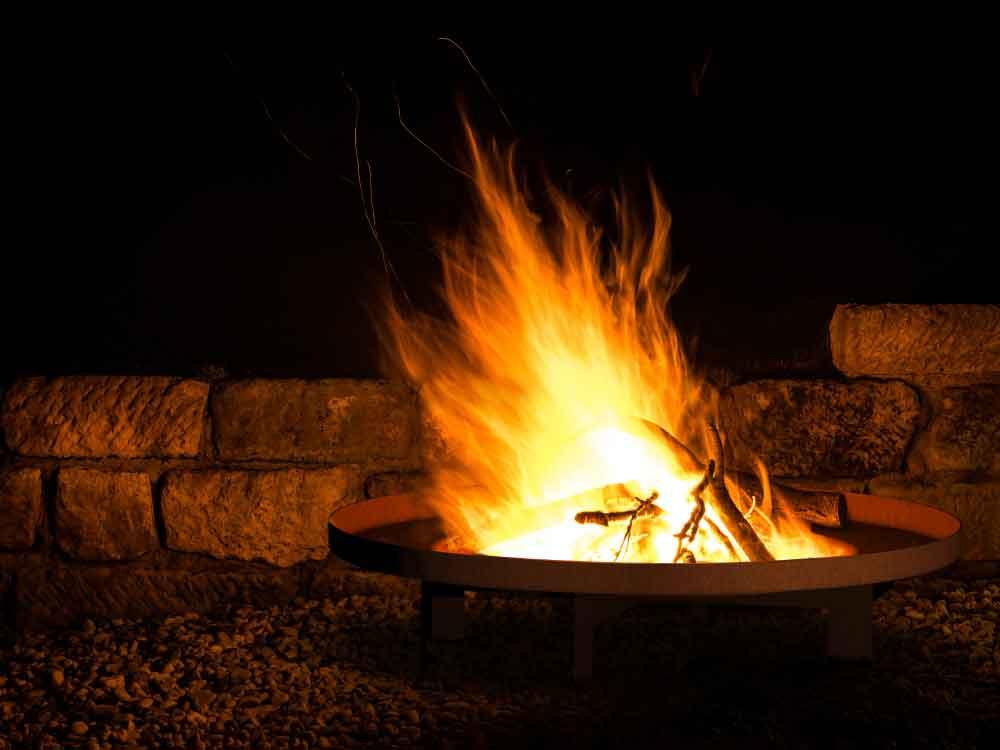 Gemütlichen Abenden mit Freunden am Feuer steht nichts mehr im Weg